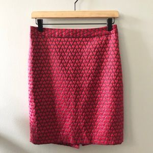 The Limited Heart Pattern Pencil Skirt Size 2
